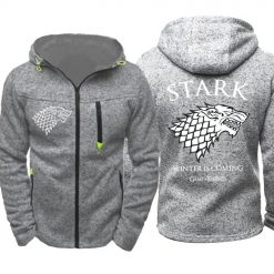 Game of Thrones Cosplay Stark Hoodie Zip Up Sweatshirts Men Women Print Winter Is Coming Hoodie 5