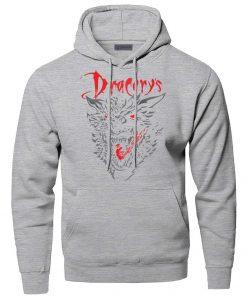 Game of Thrones Dracarys Dragon Hoodie Men Sweatshirt Winter Fleece Pullover Sweatshirts Hooded Hoodies Daenerys Targaryen 1