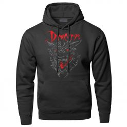 Game of Thrones Dracarys Dragon Hoodie Men Sweatshirt Winter Fleece Pullover Sweatshirts Hooded Hoodies Daenerys Targaryen