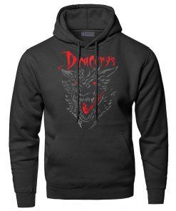 Game of Thrones Dracarys Dragon Hoodie Men Sweatshirt Winter Fleece Pullover Sweatshirts Hooded Hoodies Daenerys Targaryen