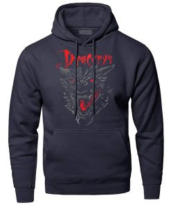 Game of Thrones Dracarys Dragon Hoodie Men Sweatshirt Winter Fleece Pullover Sweatshirts Hooded Hoodies Daenerys Targaryen 4