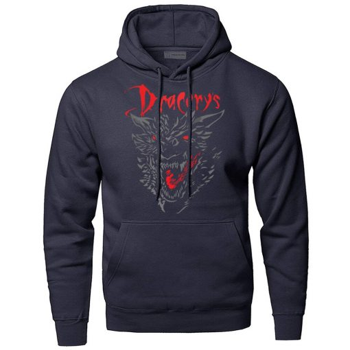 Game of Thrones Dracarys Dragon Hoodie Men Sweatshirt Winter Fleece Pullover Sweatshirts Hooded Hoodies Daenerys Targaryen 4