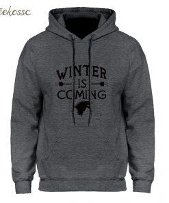 Game of Thrones Hoodie Men 2018 Winter Autumn Fleece Warm Hooded Sweatshirt Wolf Slim Fit Lightweight 1