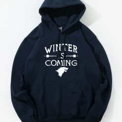 Game of Thrones Hoodie Men 2018 Winter Autumn Fleece Warm Hooded Sweatshirt Wolf Slim Fit Lightweight 2
