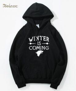 Game of Thrones Hoodie Men 2018 Winter Autumn Fleece Warm Hooded Sweatshirt Wolf Slim Fit Lightweight 3