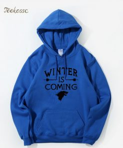 Game of Thrones Hoodie Men 2018 Winter Autumn Fleece Warm Hooded Sweatshirt Wolf Slim Fit Lightweight 4