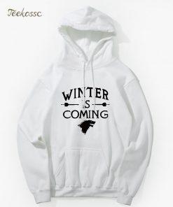 Game of Thrones Hoodie Men 2018 Winter Autumn Fleece Warm Hooded Sweatshirt Wolf Slim Fit Lightweight 5