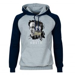 Game of Thrones Hoodies Men Jon Snow Sweatshirts King In The North Raglan Hooded Winter Autumn 1