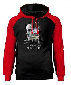 Game of Thrones Hoodies Men Jon Snow Sweatshirts King In The North Raglan Hooded Winter Autumn 2