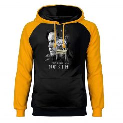 Game of Thrones Hoodies Men Jon Snow Sweatshirts King In The North Raglan Hooded Winter Autumn 3