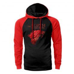 Game of Thrones Hoodies Men Winter Is Coming Stark Wolf The North Remembers Raglan Hooded Sweatshirts 1