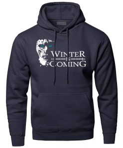 Game of Thrones Hoodies Men Winter Is Coming The Night King Hooded Sweatshirts Winter Autumn A 2