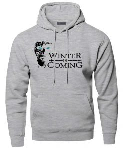 Game of Thrones Hoodies Men Winter Is Coming The Night King Hooded Sweatshirts Winter Autumn A