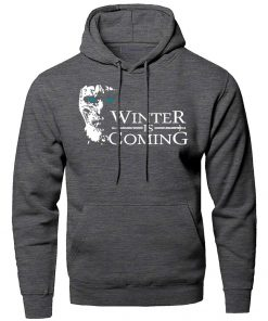 Game of Thrones Hoodies Men Winter Is Coming The Night King Hooded Sweatshirts Winter Autumn A 3