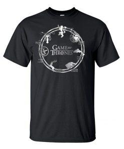 Game of Thrones Men T Shirt 2019 Summer Hip Hop Men Short Sleeve Shirt 100 Cotton