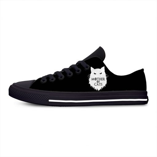 Game of Thrones Mother of Cats Fashion Funny Hot Casual Canvas Shoes Low Top Lightweight Breathable 1