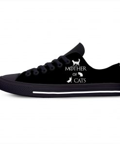 Game of Thrones Mother of Cats Fashion Funny Hot Casual Canvas Shoes Low Top Lightweight Breathable 4