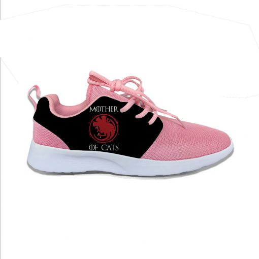 Game of Thrones Mother of Cats Funny Fashion Cute Sport Running Shoes Lightweight Breathable 3D Printed 3