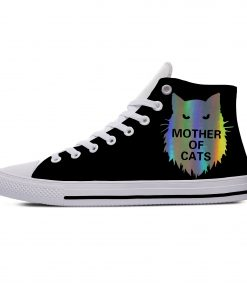 Game of Thrones Mother of Cats Funny Vogue Cute Casual Canvas Shoes High Top Lightweight Breathable 3