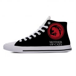 Game of Thrones Mother of Cats Funny Vogue Cute Casual Canvas Shoes High Top Lightweight Breathable 4