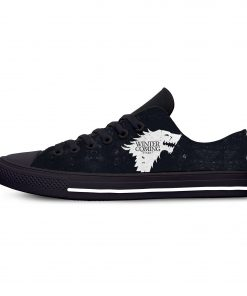 Game of Thrones Stark winter is coming Fashion Casual Canvas Shoes Low Top Lightweight Breathable 3D 2