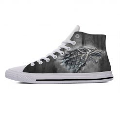 Game of Thrones Stark winter is coming Popular Casual Canvas Shoes High Top Lightweight Breathable 3D