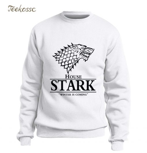 Game of Thrones Sweatshirt Men House Stark Hoodie A Song of Ice and Fire Crewneck Sweatshirts 1