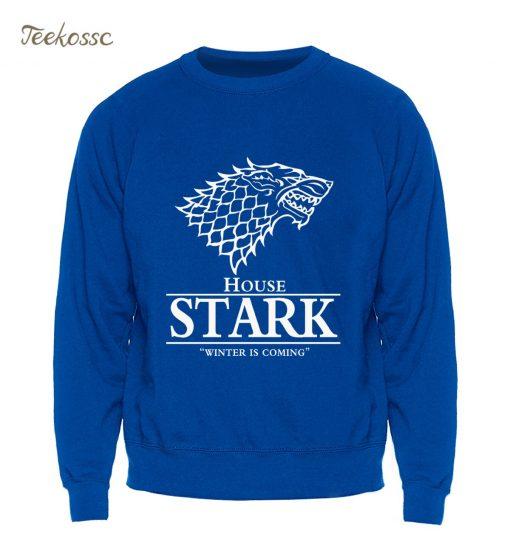 Game of Thrones Sweatshirt Men House Stark Hoodie A Song of Ice and Fire Crewneck Sweatshirts 3
