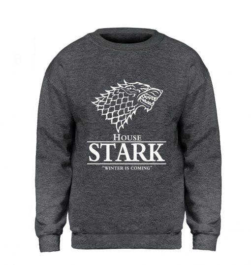Game of Thrones Sweatshirt Men House Stark Hoodie A Song of Ice and Fire Crewneck Sweatshirts 4