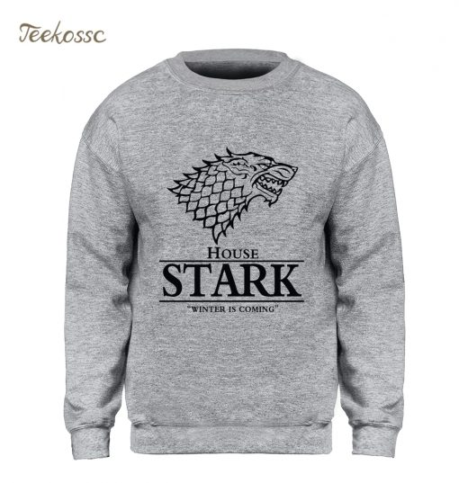 Game of Thrones Sweatshirt Men House Stark Hoodie A Song of Ice and Fire Crewneck Sweatshirts