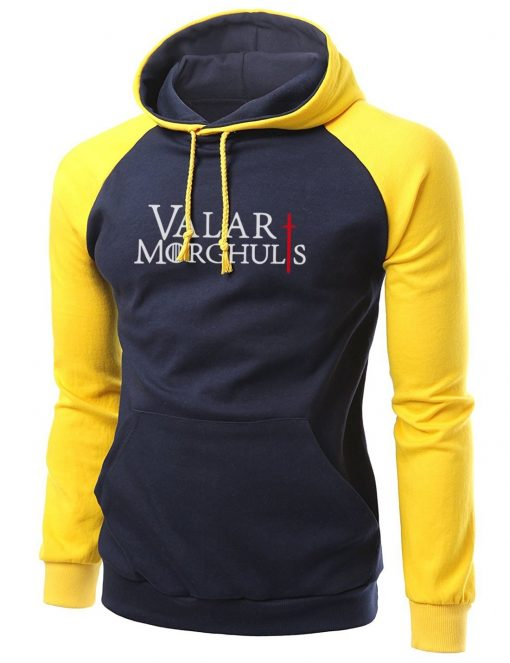 Game of Thrones Valar Morghulis Print Male Raglan Hoodie 2020 Autumn Winter Fleece SSweatshirt Hip Hop