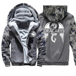 Game of Thrones men Hoodies 2020 Autumn Winter Dracarys Dragon Hooded Camouflage Plus Velvet Thicken Sweatshirts 1