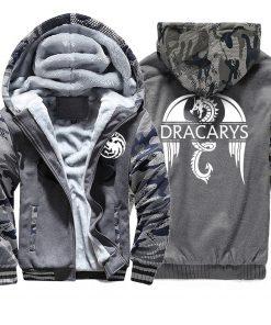 Game of Thrones men Hoodies 2020 Autumn Winter Dracarys Dragon Hooded Camouflage Plus Velvet Thicken Sweatshirts 1