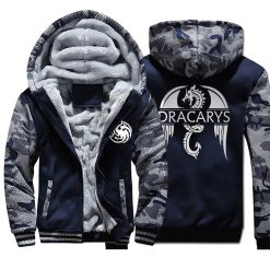 Game of Thrones men Hoodies 2020 Autumn Winter Dracarys Dragon Hooded Camouflage Plus Velvet Thicken Sweatshirts