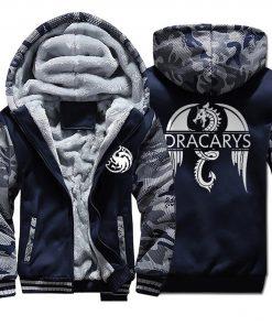 Game of Thrones men Hoodies 2020 Autumn Winter Dracarys Dragon Hooded Camouflage Plus Velvet Thicken Sweatshirts
