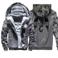 Game of Thrones men Hoodies 2020 Autumn Winter Dracarys Dragon Hooded Camouflage Plus Velvet Thicken Sweatshirts 3
