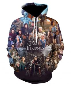 Game of thrones harajuku 3d men s hoodie Spring and autumn thin style hoodie pop Hot 5