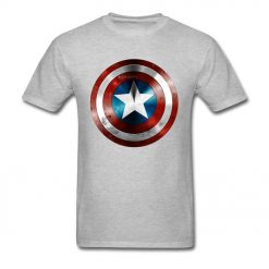 Get This Man A Shield T shirt Captain America T Shirt 3D Tops Tees Fashion Black 1