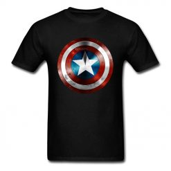 Get This Man A Shield T shirt Captain America T Shirt 3D Tops Tees Fashion Black