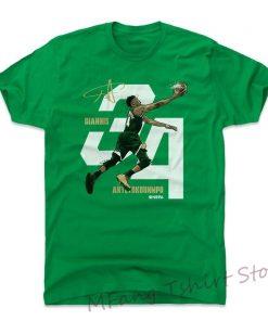Giannis Antetokounmpo Shirt Milwaukee Basketball Men Cotton T Shirt Giannis Antetokounmpo Layup W Wht
