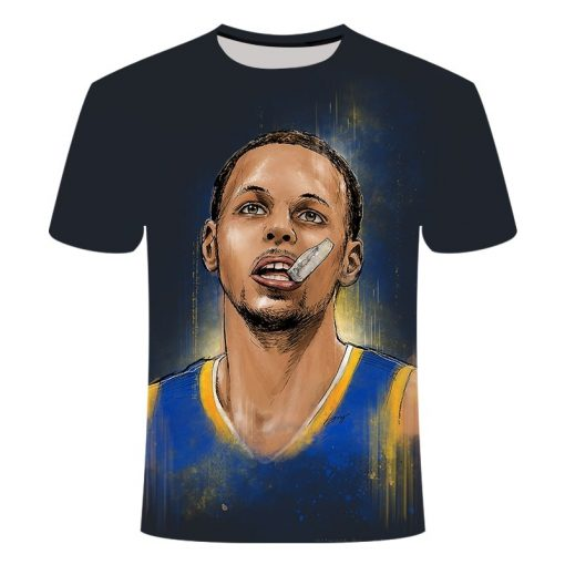 Golden State Warriors Curry 3D printed T shirt men s summer sleeves big size comfortable loose
