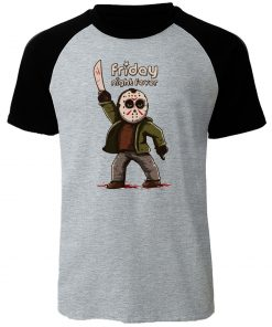 Gothic Men s T Shirt Friday the 13th Horror Prison Raglan TShirt Cotton Jason Voorhees T 1