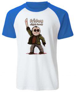 Gothic Men s T Shirt Friday the 13th Horror Prison Raglan TShirt Cotton Jason Voorhees T 2