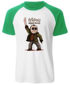 Gothic Men s T Shirt Friday the 13th Horror Prison Raglan TShirt Cotton Jason Voorhees T 3