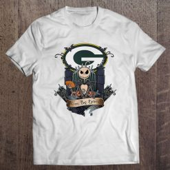 Green Bay Packer Jack Streetwear Harajuku 100 Cotton Men S Tshirt Skellington Version Tshirts