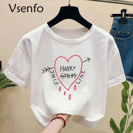 Harry Style Tshirt Harajuku Summer Fine Line Love on Tour T shirt with Print Casual O 1