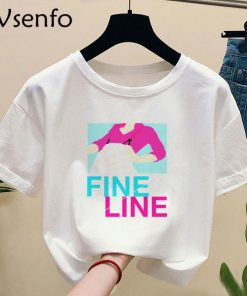 Harry Style Tshirt Harajuku Summer Fine Line Love on Tour T shirt with Print Casual O 4