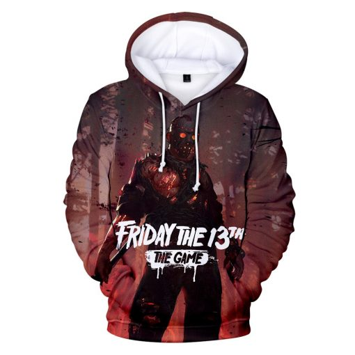 High Quality Friday The 13th The 3D Hoodie Men Women Fashion Casual Game Hoodies Friday The 4