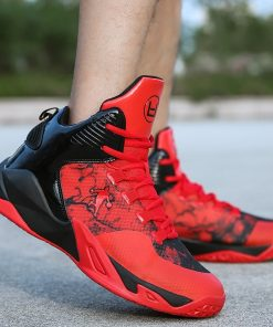 High top Basketball Shoes Men Cushioning Light Jordan Basketball Sneakers Anti skid Breathable Outdoor Sports Men
