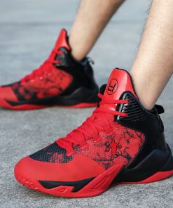 High top Basketball Shoes Men Cushioning Light Jordan Basketball Sneakers Anti skid Breathable Outdoor Sports Men 4